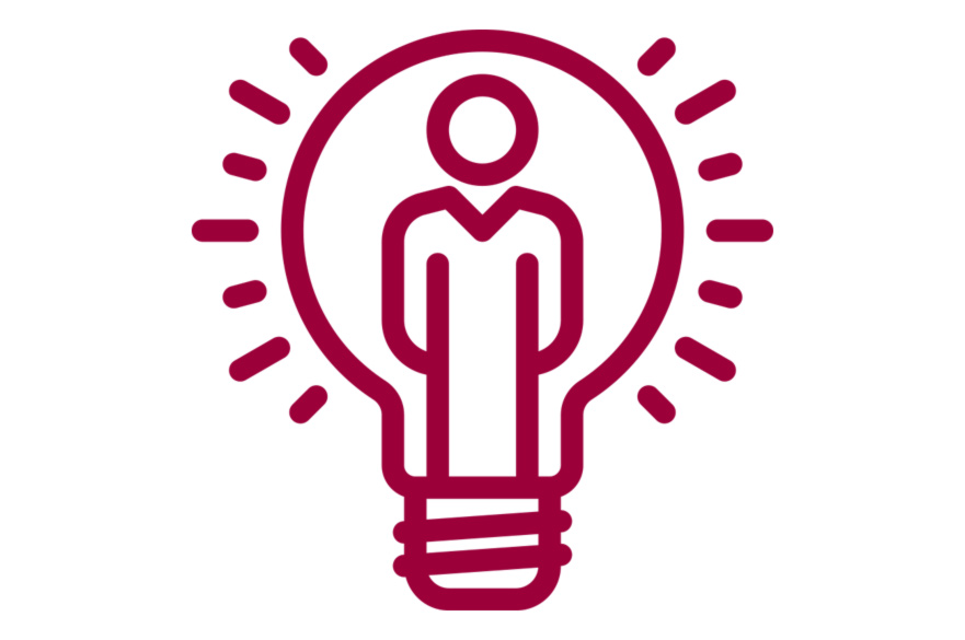 Valuing ideas lightbulb icon