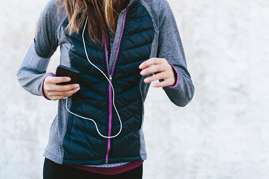 jacket with charging cable